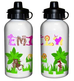 Animal Alphabet Personalised Drinks Bottle - Girls