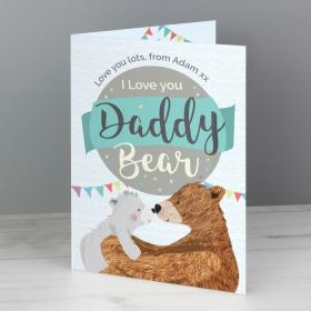 Daddy Bear Personalised Card