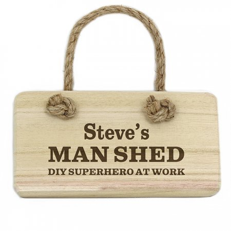 Man Shed Personalised Wooden Sign