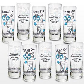 Stag Do Personalised Shot Glasses - Set of 10