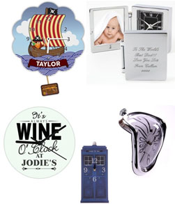 Personalised andNovelty Clocks Browse Here