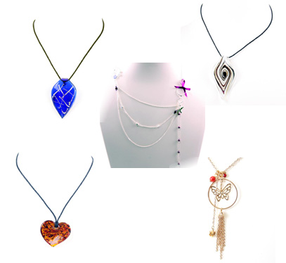Necklaces - Glass and Pendant
