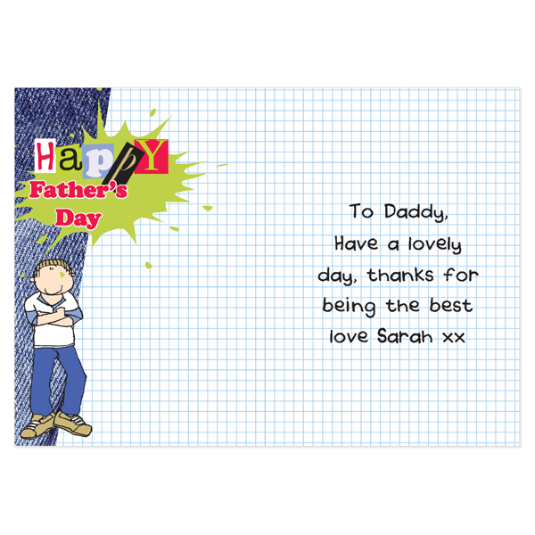 Father's Day Personalised Card - Bang on the Door