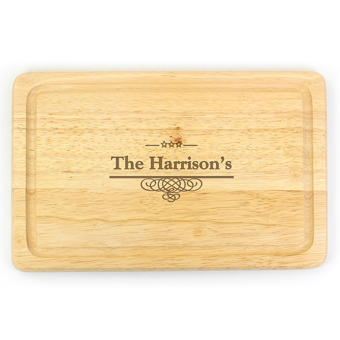Decorative Personalised Wooden Chopping Board - Large