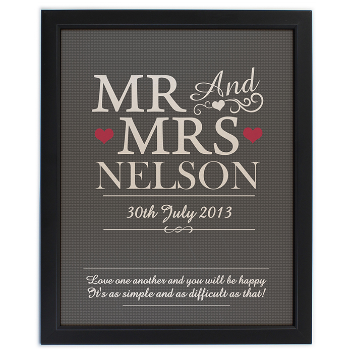 Personalised Framed Posters
