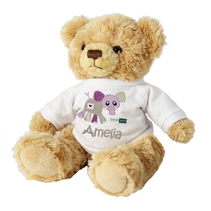 Elephant Personalised Teddy - Wynciette the Elephant