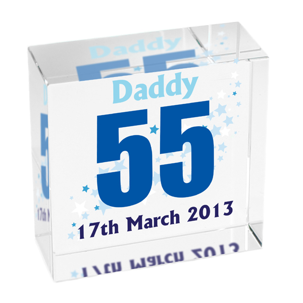 Personalised Crystal Blocks
