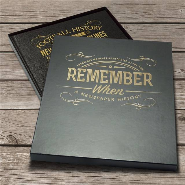 Football Club Newspaper Personalised Book - Your Club