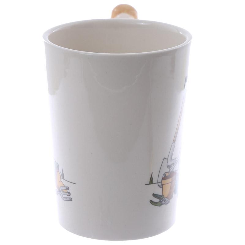 Trowel Shaped Handle Ceramic Garden Mug Personalised