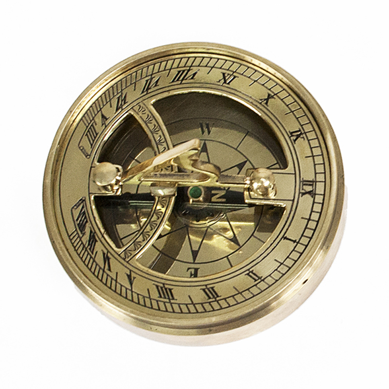 Iconic Adventurer's Personalised Brass Sundial Compass