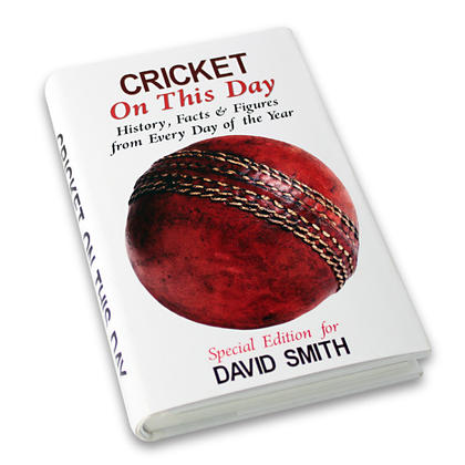 Cricket On This Day Personalised Book