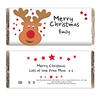 Christmas Personalised Chocolate Bar - Reindeer