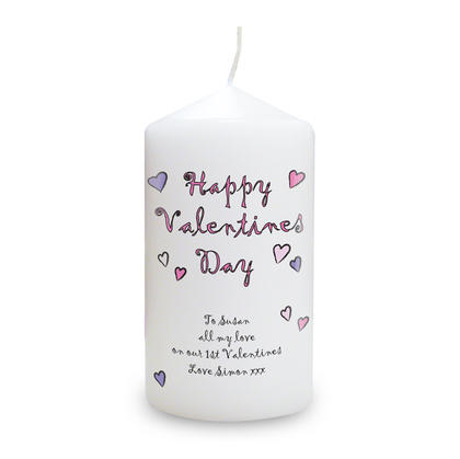 Happy Valentine's Day Personalised Candle