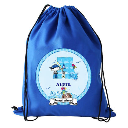Pirate Letter Personalised Kit Bag - Blue