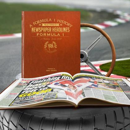 Formula 1 Newspaper Personalised Book