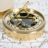 Adventurer's Personalised Brass Sundial Compass