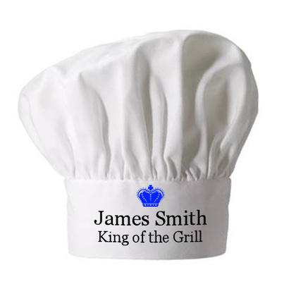 King of the Grill Personalised Chef Hat