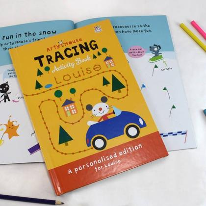 Arty Mouse Tracing Personalised Activity Book