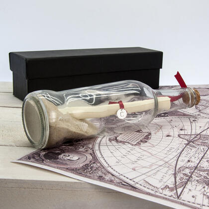 Personalised Message in a Bottle with Gift Box