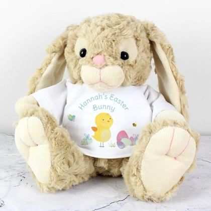 Bunny with Personalised Easter Meadow T-Shirt
