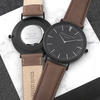 Men's Modern-Vintage Personalised Leather Watch - Black Face