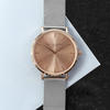 Ladies Personalised Rose Gold Dial Watch - Metallic Mesh Strap