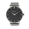 Men's Personalised Metallic Black Face Watch - Charcoal Grey