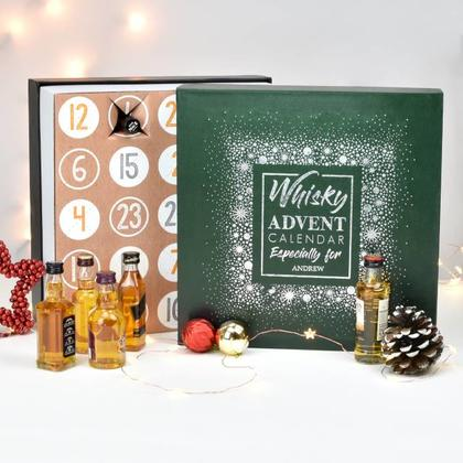 Whisky Advent Calendar Personalised Christmas Box