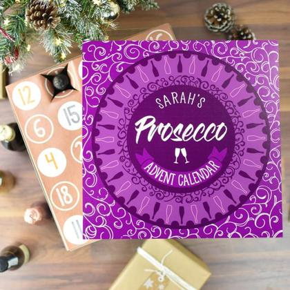 Prosecco Advent Calendar Personalised Christmas Box