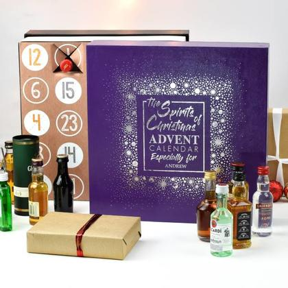 Mixed Spirits Advent Calendar Personalised Christmas Box