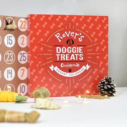 Dog Treats Advent Calendar Personalised Christmas Box