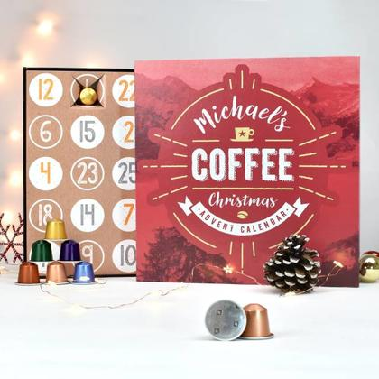 Coffee Advent Calendar Personalised Christmas Box
