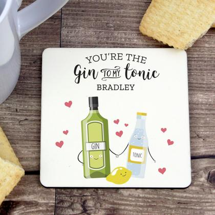 Gin to My Tonic Personalised Coaster