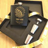 Darts Personalised Hipflask Gift Set