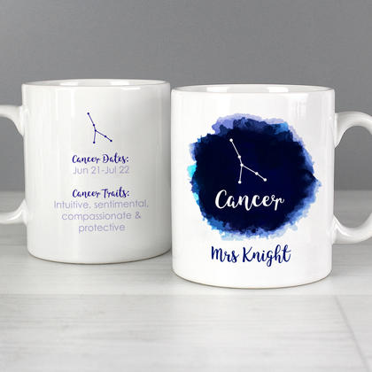 Cancer Star Sign Personalised  Zodiac Mug