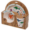 Sealife Design Bambootique Eco Friendly Kid's Dinner Set