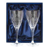 Anniversary Personalised Crystal Glasses - Set of 2 & Gift Box