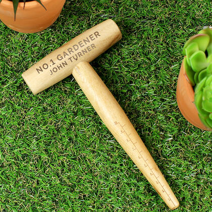 Gardening Personalised Message Wooden Dibber