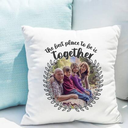 Better Together Personalised Photo Cushion with Insert